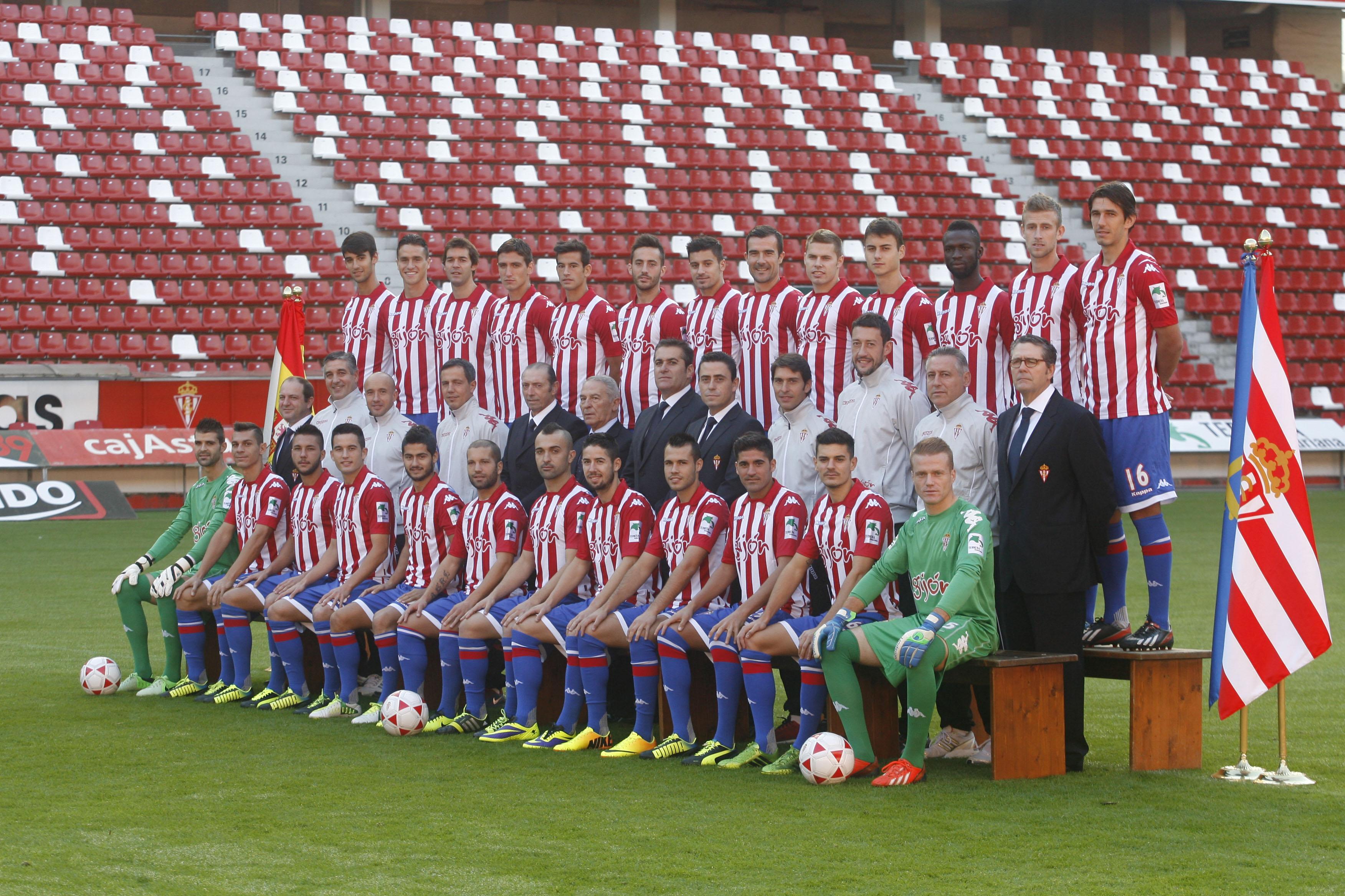 Foto oficial del sporting de gij n temporada 2013 2014 - Fotos del sporting de gijon ...
