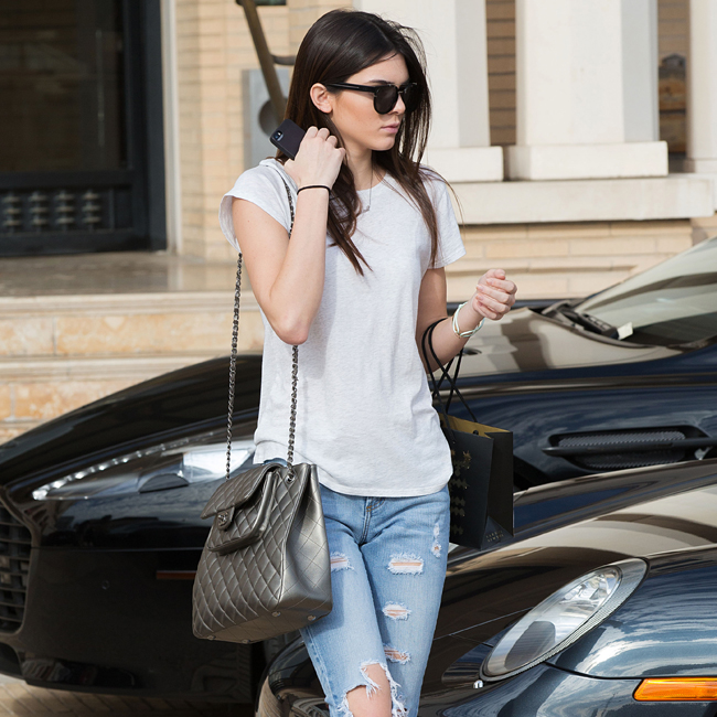 Kendall Jenner and Kylie Jenner shop at Barneys New York