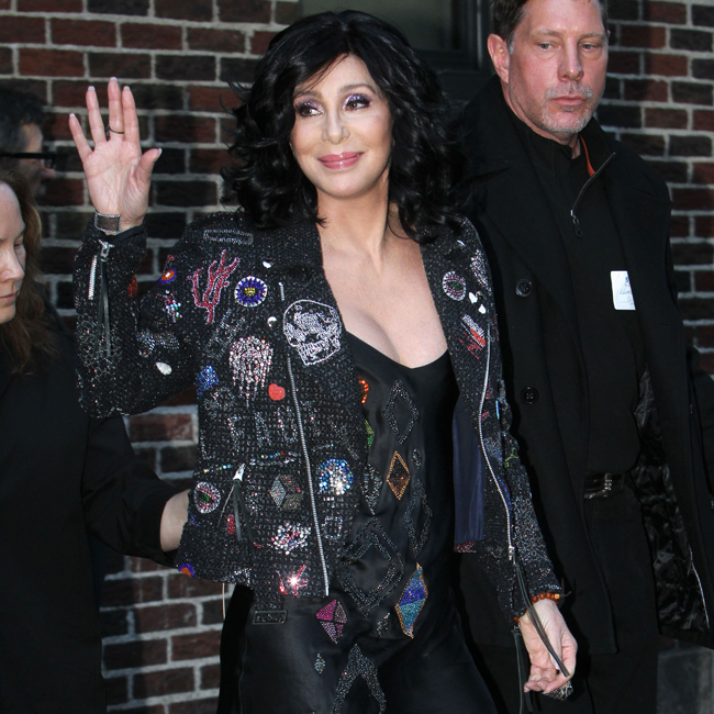 Cher at the 'The Late Show with David Letterman' in NYC