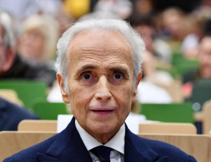 El tenor español José Carreras