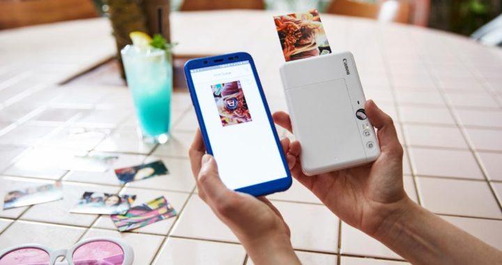 Como la Canon Zoemini S tiene Bluetooth, también se puede usar como impresora del móvil. En Europa se vende por 150 euros. Foto: Dominic Marley/Canon/dpa-tmn