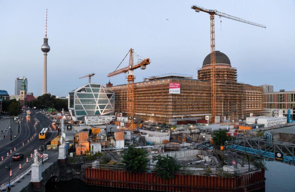 Vista del centro histórico de Berlín. En el centro se encuentra el Palacio Real, que albergará el centro cultural Foro Humboldt. Foto: Jens Kalaene/zb/dpa