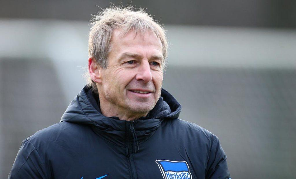 El entrenador del Hertha Berlín, Jürgen Klinsmann. Foto: Andreas Gora/dpa