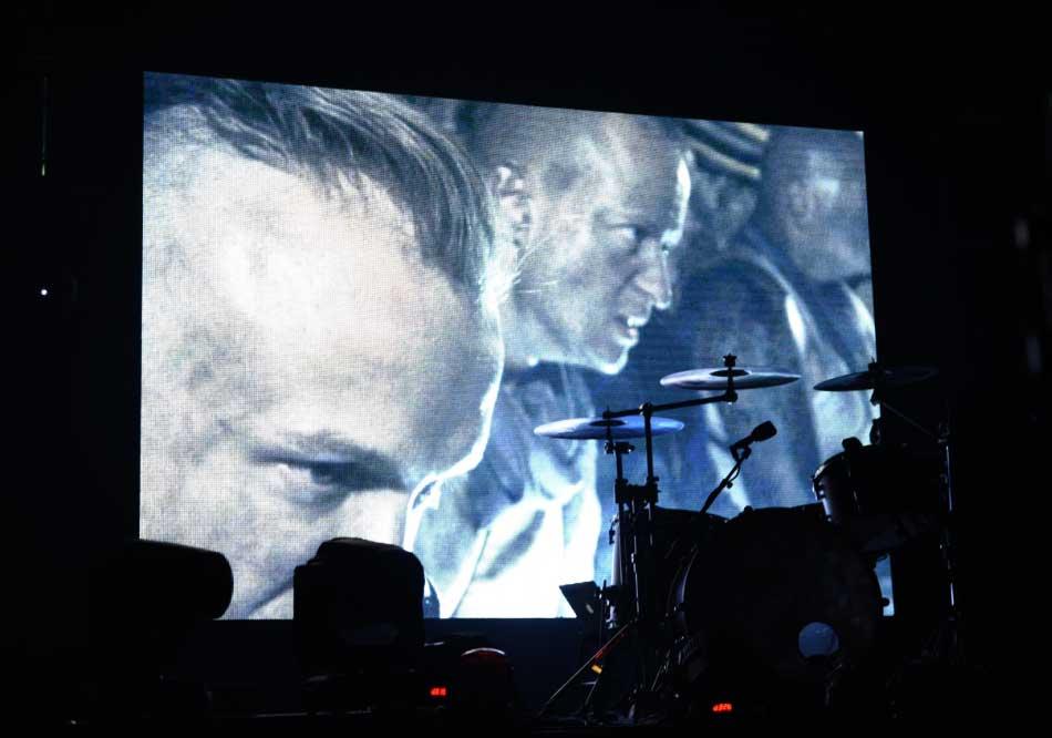 La banda de rock alemana Goitzsche Front, durante un concierto. Foto: Marek Majewsky/dpa-Zentralbild/dpa