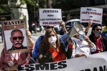 Protestan contra el líder del Frente Polisario